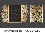 laser cut gate fold card ... | Shutterstock .eps vector #737387152