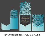 laser cut pocket fold envelope... | Shutterstock .eps vector #737387155
