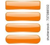Blank Orange Menu Buttons. 3d...