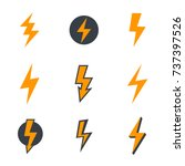 lightning bolt  electricity ... | Shutterstock .eps vector #737397526