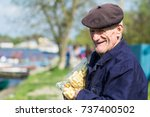 editorial use. people of danube ... | Shutterstock . vector #737400502