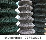 roll chain link pvc   Shutterstock . vector #737410375