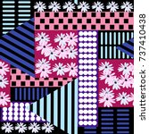 seamless floral patchwork... | Shutterstock .eps vector #737410438