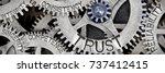 macro photo of tooth wheel...   Shutterstock . vector #737412415
