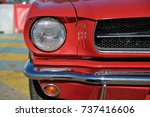 ford mustang. american car.... | Shutterstock . vector #737416606