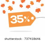 orange price tag label with 35  ...   Shutterstock .eps vector #737418646