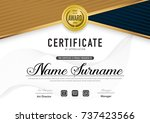 certificate template luxury and ... | Shutterstock .eps vector #737423566