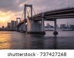 sunset glow in tokyo bay | Shutterstock . vector #737427268