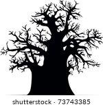 baobab tree | Shutterstock .eps vector #73743385