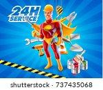 repairman service   Shutterstock .eps vector #737435068