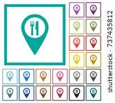 restaurant gps map location... | Shutterstock .eps vector #737435812