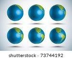 vector 3d globe  10 degree...   Shutterstock .eps vector #73744192