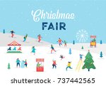 winter sport scene  christmas... | Shutterstock .eps vector #737442565