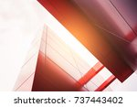 architecture modern finance ... | Shutterstock . vector #737443402