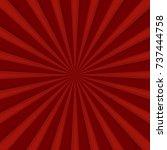 red comics radial speed lines... | Shutterstock . vector #737444758