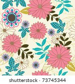 seamless floral background | Shutterstock .eps vector #73745344