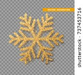christmas decoration  golden... | Shutterstock .eps vector #737453716