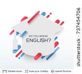 white badge graduation cap... | Shutterstock .eps vector #737454706