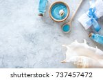 sea salt from dead sea and... | Shutterstock . vector #737457472