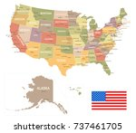 united states vintage map and...   Shutterstock .eps vector #737461705
