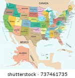 united states map   detailed...   Shutterstock .eps vector #737461735