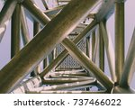 complex ladder. urban geometry  ... | Shutterstock . vector #737466022