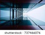 urban geometry  looking up.... | Shutterstock . vector #737466076