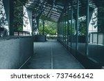 modern office building exterior ... | Shutterstock . vector #737466142