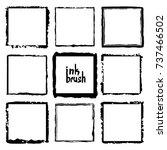 rectangular vector frame.... | Shutterstock .eps vector #737466502