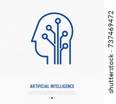 artificial intelligence thin... | Shutterstock .eps vector #737469472