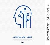 artificial intelligence thin...   Shutterstock .eps vector #737469472