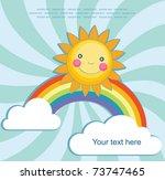 fun sun over abstract sky... | Shutterstock .eps vector #73747465