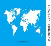 world map | Shutterstock .eps vector #737474746
