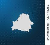 map of belarus. | Shutterstock .eps vector #737475262