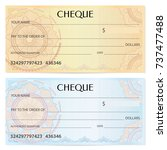 check  cheque   chequebook... | Shutterstock .eps vector #737477488