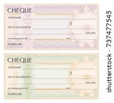 check  cheque   chequebook... | Shutterstock .eps vector #737477545