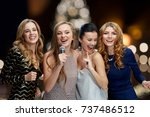 holidays and people concept  ... | Shutterstock . vector #737486512