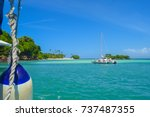 Catamaran In Front Of A...
