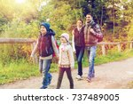 travel  tourism  hike and... | Shutterstock . vector #737489005