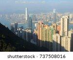 cityscape of hong kong skyline... | Shutterstock . vector #737508016