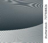 monochrome moire wave pattern.... | Shutterstock .eps vector #737508826