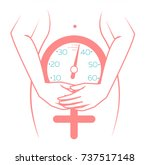concept of menopause in the... | Shutterstock .eps vector #737517148