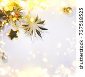 christmas and new year holiday...   Shutterstock . vector #737518525