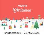 winter wonderland  merry... | Shutterstock .eps vector #737520628