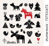 christmas illustrations  hand... | Shutterstock .eps vector #737521672