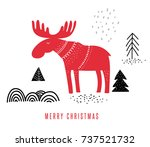 christmas  winter illustration... | Shutterstock .eps vector #737521732