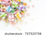 bright decor for birthday ...   Shutterstock . vector #737525758