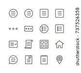menu icon set. collection of...