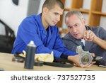 examining medical parts | Shutterstock . vector #737527735