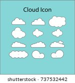 white cloudy icon | Shutterstock .eps vector #737532442